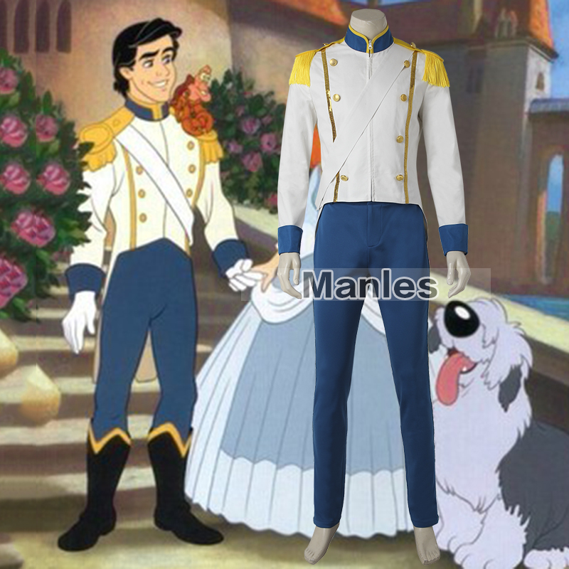Prince Eric Costume Cosplay The Little Mermaid Outfit Carnival Clothes Adult Men Halloween Clothing Movie Suit