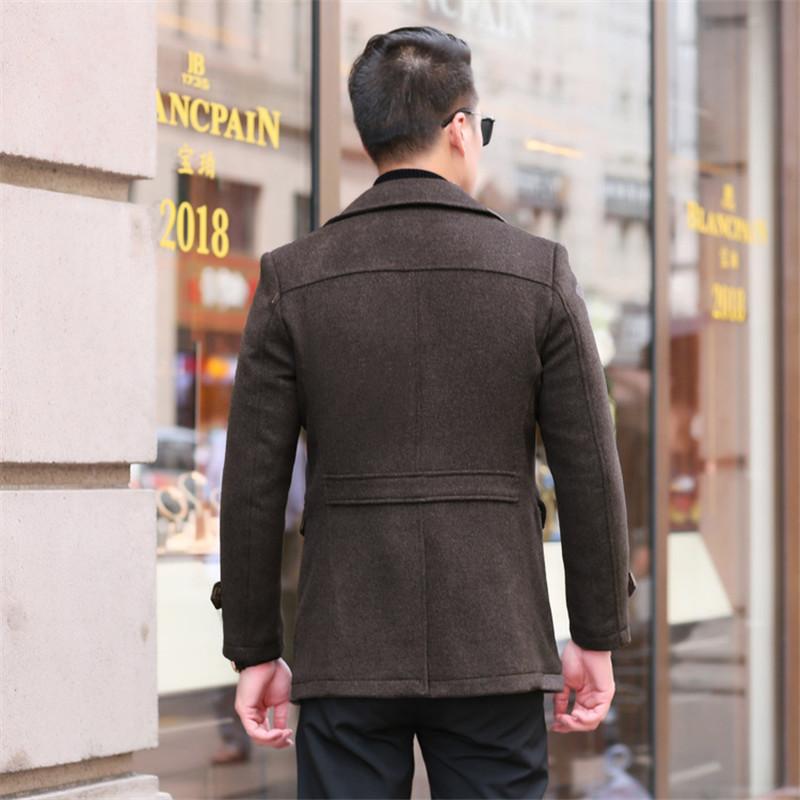 06898d1b864 2019 2018 Smart Casual Mens Winter Coats Overcoats Fashion Slim ...