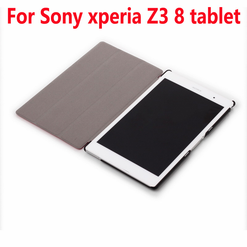 Ultra Slim Cover for Sony Xperia Z3 tablet Compact 8.0inch Case,Flip PU Leather Kickstand Case for Sony Z3 tablet Compact Cover pu leather pouch stand magnetic flip cover case for sony xperia tablet s s1 sgpt111 sgpt112 sgpt113cn 9 4 inch 9colors