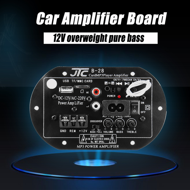 Best Price Bluetooth Power Amplifier High Power 12V220V Low-Tone Power Amplifier Board Household Car-Mounted Audio Circuit Board
