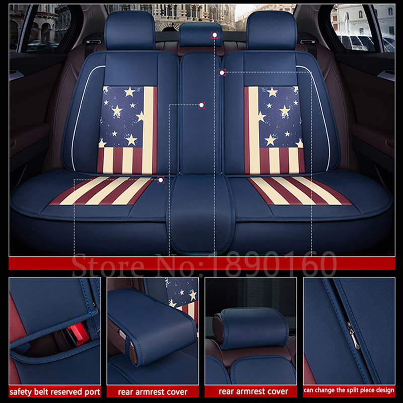 only rear leather car seat covers For Benz A B C D E S series Vito Viano Sprinter Maybach CLA CLK auto accessories car Stickers image