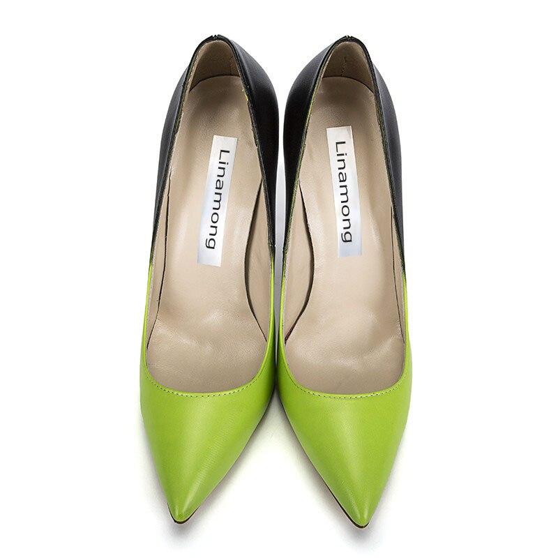 Dedo Sexy Amarillo Vestido Verde Degradado Zapatos As Estilete Las Tacones Color Negro Pie Bombas De Altos Punta Del Señoras Mujeres Mujer Pic Boda r5PqErT