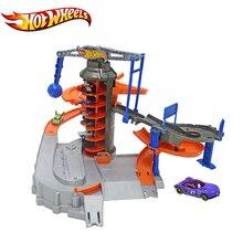 Oryginalne Hotwheels Sport Car Track Zestaw Funny Elektryczny Wielofunkcyjny Samochód Zabawka Miasta DPD88 Explorat Hot Wheels Tor Zabawka Modelu