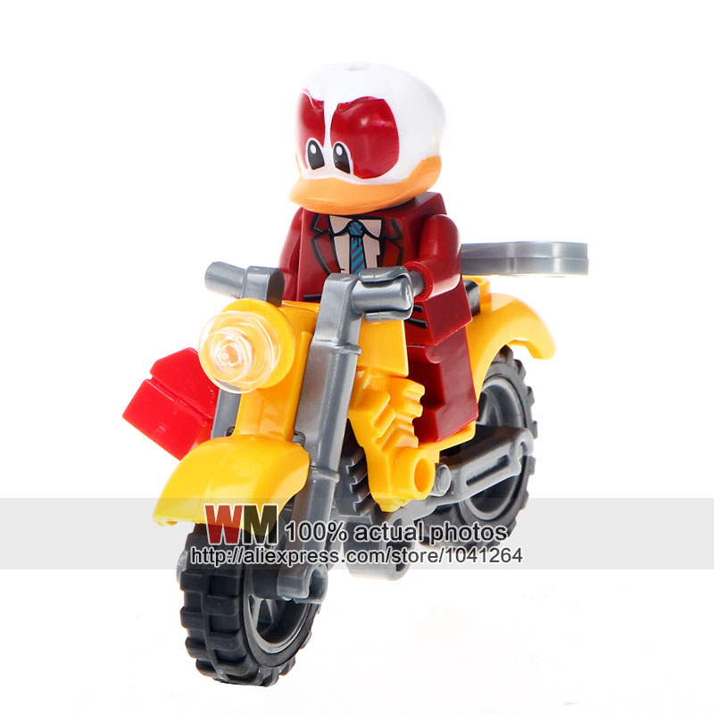 Blocks Building Blocks 10lots Of Jlb 3d58901-58906 Duck Super Hero With Motorcycle Kit Action Figures Children Gifts Toys Dropshipping