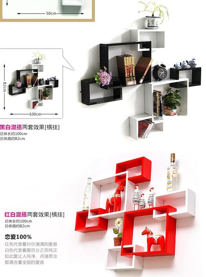 3 unids / lote estante para colgar en la pared de tres piezas - Organización y almacenamiento en la casa - foto 2