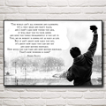 Rocky Balboa:Best Boxing Motivational Quotes Silk Fabric Poster Home Decor Pictures 12x18 16X24 20x30 24x36 Inches Free Shipping
