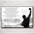 Rocky Balboa: Mejores Citas de Motivación de Boxeo Tela De Seda Poster Decoración Para El Hogar Imágenes 12x18 16X24 20 30x24x36 Pulgadas Envío Gratis