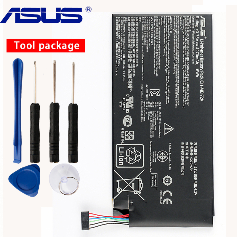 Original ASUS C11-ME172V Tablet PC Battery For ASUS MeMoPad K0W K004 Fonepad ME371MG ME371 ME172V 4270mAhOriginal ASUS C11-ME172V Tablet PC Battery For ASUS MeMoPad K0W K004 Fonepad ME371MG ME371 ME172V 4270mAh