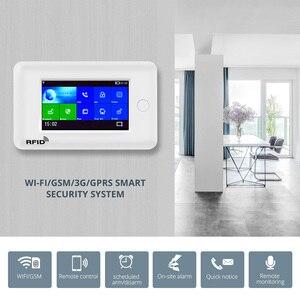 Image 5 - Fuers WIFI المنزل الذكي نظام إنذار أمان 3G مكافحة سرقة نظام 4.3 شاشة ملونة مقاس بوصة APP التحكم عن بعد PIR محس حركة