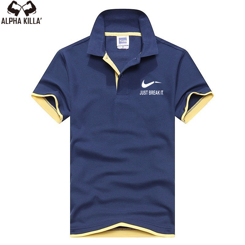New 2018   polo   men's shirt high quality cotton short sleeve shirt summer breathable solid male   polo   shirt
