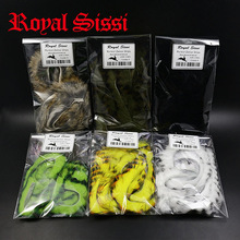 6 farver blandet Fly Tying Black Barred Kanin Zonker Strips lige skær kanin strip materialer til messing strout & steelhead fluer