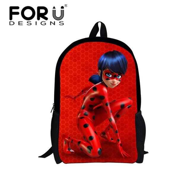 897e1b9b0c02 FORUDESIGNS Ladybug Schoolbag Backpack Girls Cartoon Lady Bug Printing  School Bag Kids Cute Book Bag Teenager Schoolbags Mochila