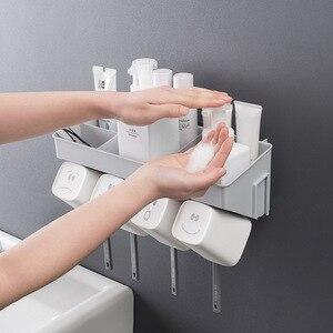 Image 3 - クリエイティブ歯ブラシホルダー歯カップため 2 人 3 人 4 人北欧スタイルシンプルなデザインの収納オーガナイザー