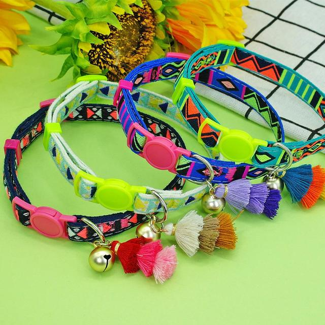 Personalized Cat Collar With Bell And Number Tag  2