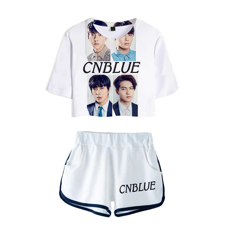 ... CNBlue 3D 100% Cotton Sets Woman Suit Girls Streetwear Korean rock band  Women Popular Collage ...