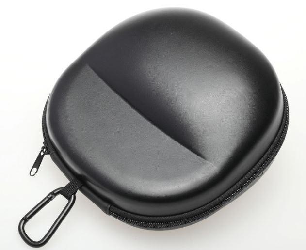 Black Big Waterproof Shockproof Headphone Zip Carrying Case Hard Large Portable Earphone Bag Headset Case (19X18X10cm)
