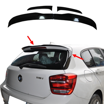 Spoilers For BMW F20 2012-2018 1 One Series 120i 125i 118i M135i 116i F20 Black Painted Rear Wings Roof/Top Spoiler F20 Spoiler carbon fiber rear trunk wings m4 spoiler for bmw 4 series f36 420i 428i 435i gran coupe 4 door 2013 gloss black spoiler wing
