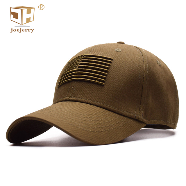 5ecfc7693ba80c JOEJERRY Army Green Embroidered Baseball Caps USA For Men Female American  Flag Caps High Quality Black Hat