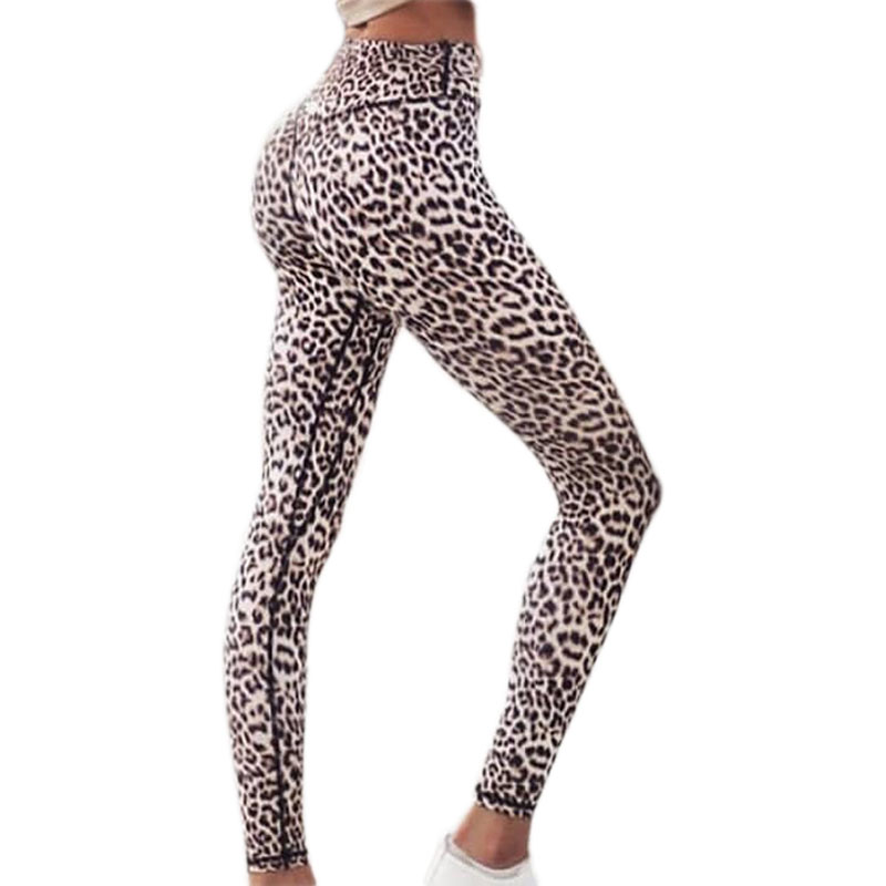 Custom-made New&Improved Thick Style Sexy Leopard Print High Waist Yoga Leggings Stretch Yoga Pants Running Sport Leggings XS-XL