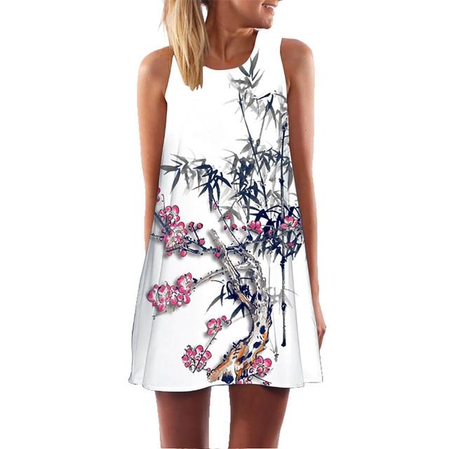 Robe Femme Summer Dress...