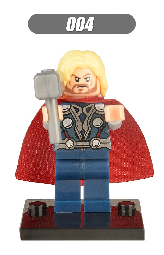 Single Sale Super Heroes Thor Spiderman Captain America Batman Hawkeye Bricks Action Building Blocks Toys for children XH 004 dr tong 80pcs lot sy658 super heroes hulk superman thor batman ironman spiderman building blocks bricks diy toys children gifts