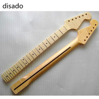 disado 22 Frets one pieces Tiger flame material maple wood Color Electric Guitar Neck Wholesale Guitar accessories parts