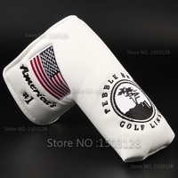 New USA American No 1 Flag Long LifeTree White Golf Putter Cover Headcover Velcro Closure For
