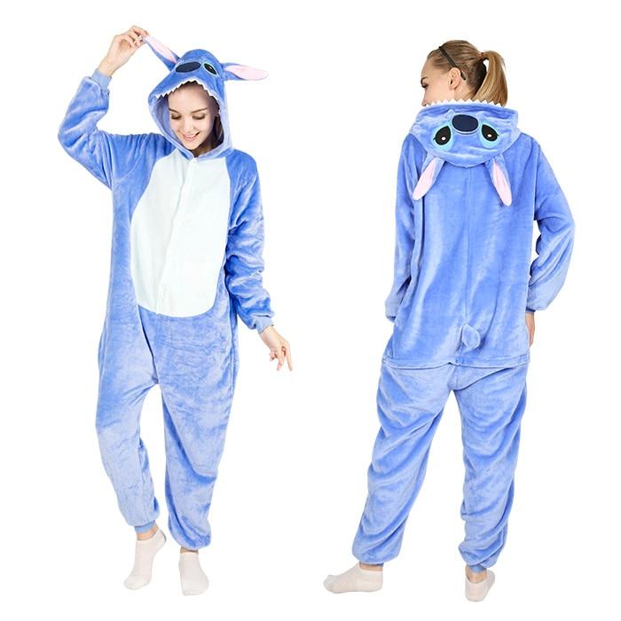 Blue Stitch Pajamas  Luna Cat Onesies  Rilakkuma Onesies  Pink Pig Pijama  Panda  Onesies  Pikachu Pajama  Pink Unicorn Onesies ... c9f118d3a