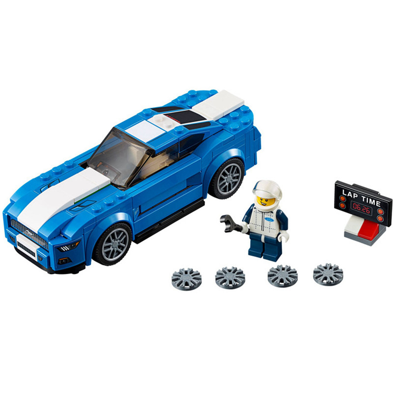 Super Speed Champions Mustang GT75871 Building Block 191pcs Bricks /& Instuiction