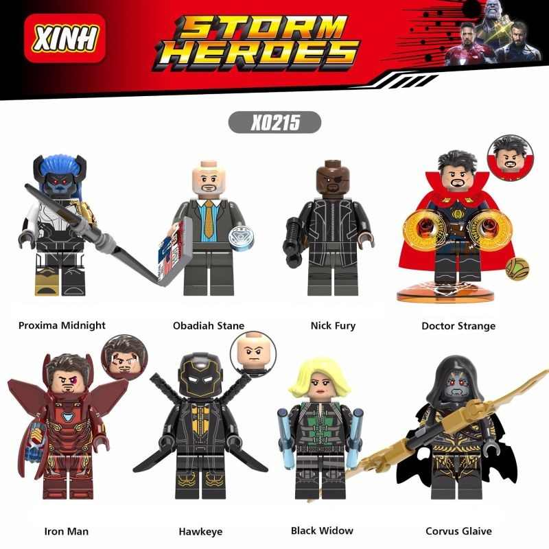 Legoings Figures Avengers super Heroes Iron Man Black widow Hawkeye Building Blocks Figurines Toys for Children