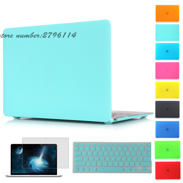 crystal housse matte case for apple macbook air pro retina 11 12 13 15 laptop bag coque for
