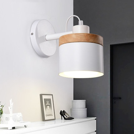 Simple Fashion Modern Wall Sconces Adjust Wooden Wall Light Fixtures For Aisle Home Indoor Lighting Bedside LED Wall Lamp modern wall lamp glass ball led wall sconces bedside wall light fixture bedroom luminaria home lighting vintage lamp