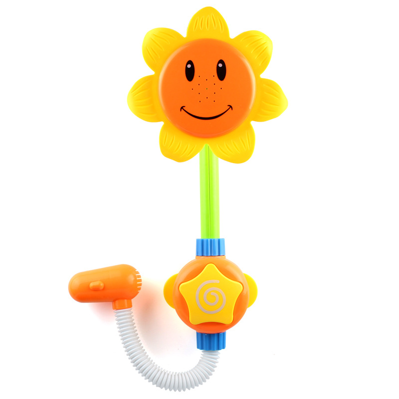 Baby Funny electrical Water Game Bath Toy Sunflower Shower Faucet Baby Bath Spout Play Swimming Bathroom Toys Random Color