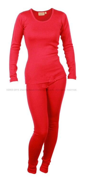 Équipage de poids moyen des femmes à même La Peau (NTS) couche de base 100% pur mérinos laine tops habillement bas pantalon souffle thermique sous-vêtements