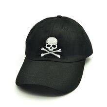Популярные Бейсбол Кепки вышивка с принтом «черепа» Повседневная