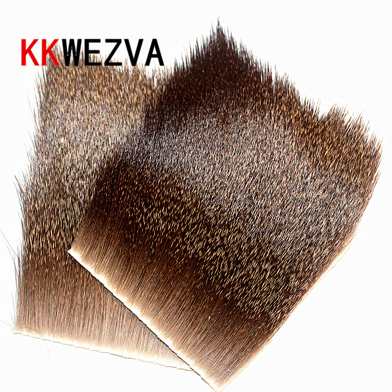 KKWEZVA 6X6cm Body Deer Hair Patch Caddis Stimulater Hopper Floating Dry Fly Tying Material Fishing Fly Tying Wing Natural Color in Fishing Lures from Sports Entertainment