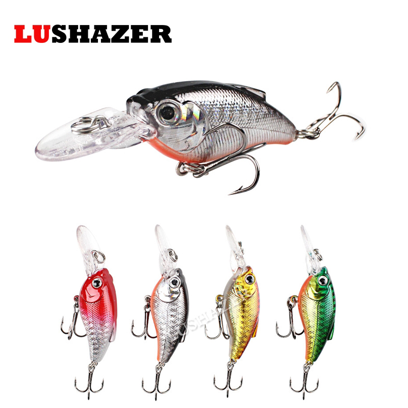LUSHAZER minnow crank bait 9.5g 7.5cm jerkbait isca artificial fish wobbler hard lure cheap fishing tackle fly tying materials