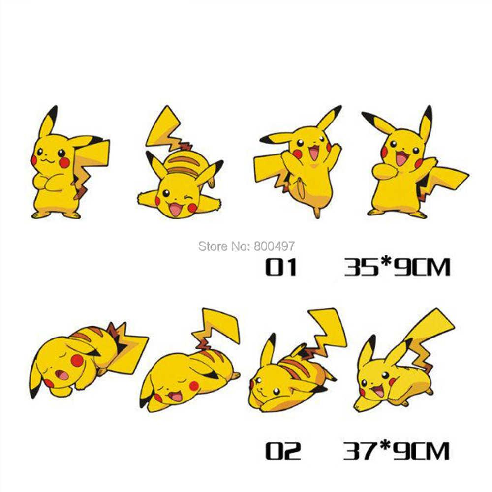 Décalcomanies d'autocollant de combinaison d'expression de Pokemon d'animal familier de bande dessinée de style de voiture pour Toyota Peugeot VW Ford Lada Mazda Honda