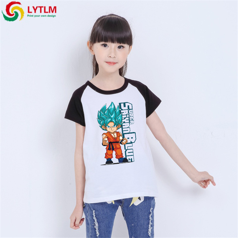 LYTLM Anime Shirt for Kids Dragon Ball Girls Shirts Son Goku T-shirt Roupa Menina Boys Tshirts With Short Sleeves Rock N Roll(China)