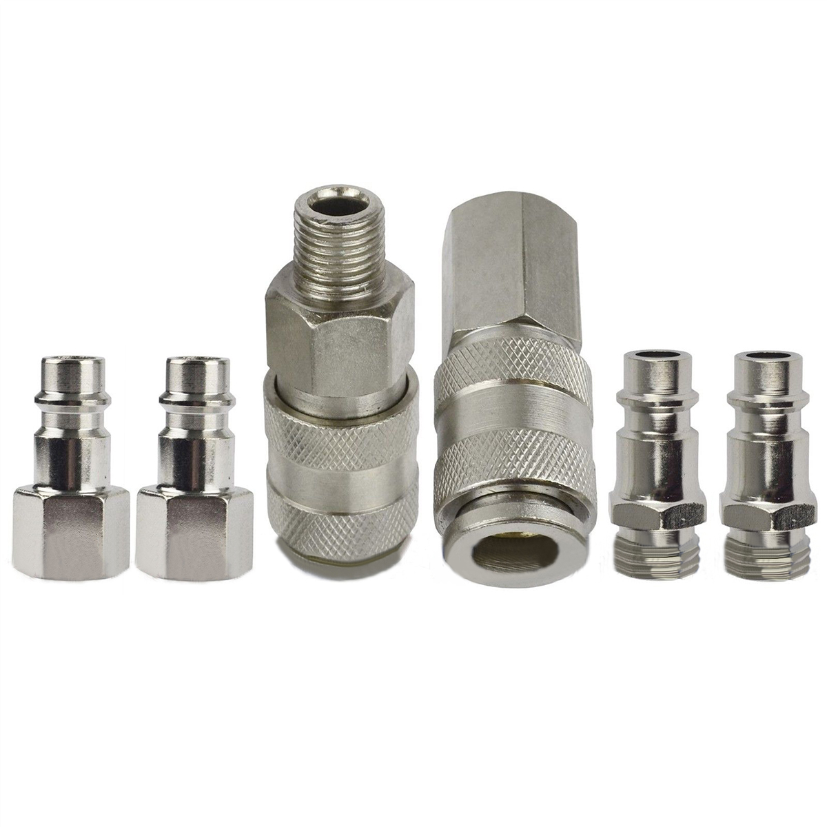 6pcs New Air Line Compressor Connector Mayitr Euro Fittings Quick Release Coupling Set 1/4 BSP Thread 3 8 bsp female air compressor pneumatic quick coupler connector socket fittings set