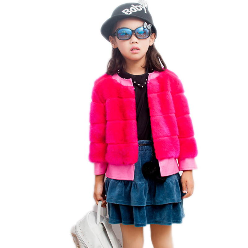 girls faux fur coat 2017 new winter warm clothes solid short section kids baby girls imitation Mink hair coats children outwear fashion girls fur coats 2017 new baby girls pu leather faux fox fur motorcycle jackets winter warm kids outerwear coats