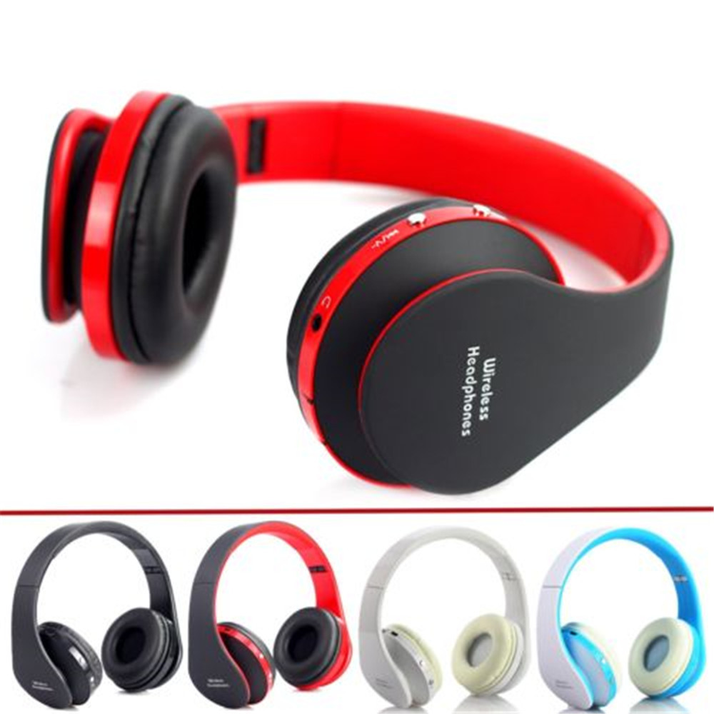handsfree stereo foldable wireless headphones casque audio bluetooth headset cordless earphone. Black Bedroom Furniture Sets. Home Design Ideas