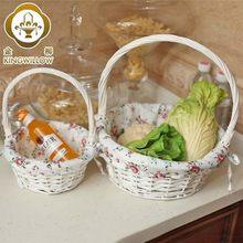 home kitchen storage box basket baskets rattan wicker straw portable fruit vegetables