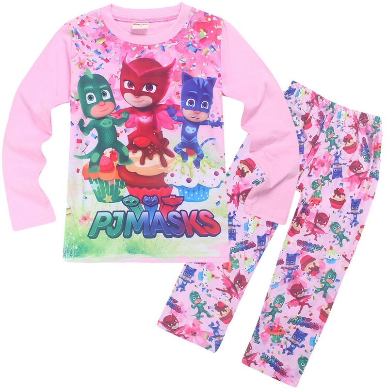 New Arrivals spring and autumn girls cartoon cotton pajamas 2pcs/set of leisure home clothes girl clothes Christmas costumes