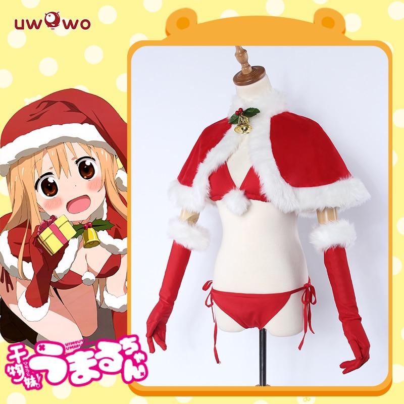 UWOWO Umaru UMR Cosplay Himouto! Umaru-chan X'mas Christmas Costume Uniform Red Costume Bikini Women Full Set Cos