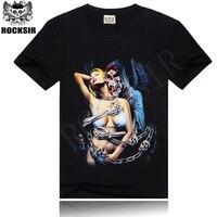 Supreme New 2014 Spring Women Men Summer Skull T Shirt Cool Rock Roll T Shirts Fashion