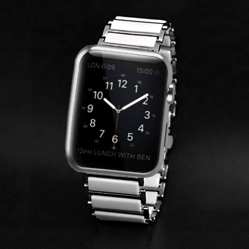 Black Ceramics Watch Strap For Apple Watch Band 42mm 38mm For IWatch 4 40mm 44mm Watchband For Apple Watch Series 1&2&3&4