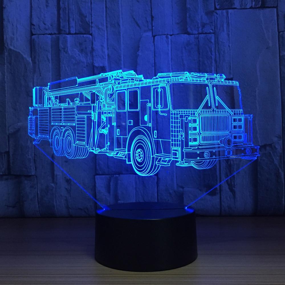7 cores em mudança carro de bombeiros