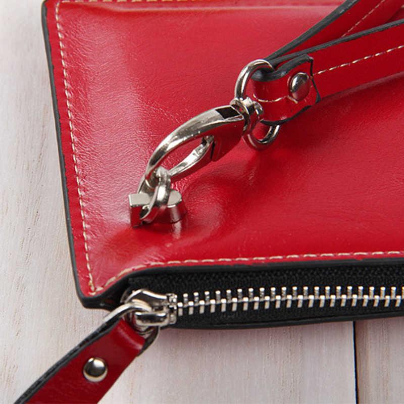 Fechamento Com Zíper Bolsa Longo Estilo mulheres Carteira Multifuncional Super Fino Grande capacidade Bolsa Da Forma Saco de Dinheiro Mais Slots de Cartão