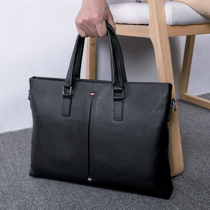 BAQI Brand Men Briefcase Bag HandBags Genuine Cow Leather Computer Business 2019 Fashion Shoulder bags Messenger
